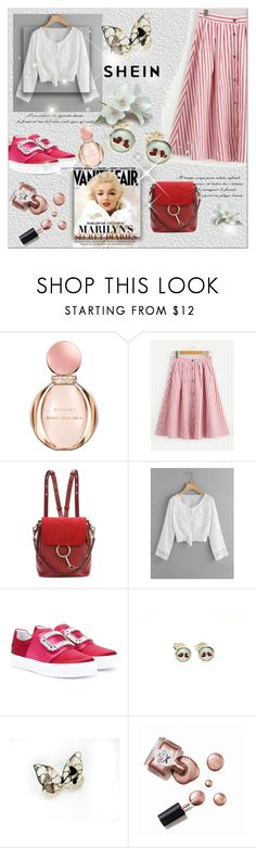 """marilyn"" by giampourasjewel ❤ liked on Polyvore featuring Bulgari, Chloé, Vanity Fair and Ciaté"