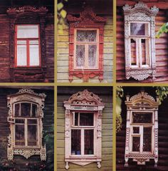 16 Magnificient Wood Bed Ideas for Traditional House – List Home Victorian Windows, Victorian Houses, French Door Curtains, Carved Wood Signs, Russian Folk Art, Wooden Windows, Historical Architecture, Russian Architecture, Red Art