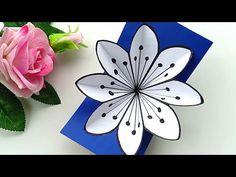 Paper Flowers Diy, Flower Cards, Pop Up Cards, Xmas Cards, Popup Cards Tutorial, Paper Art, Paper Crafts, Fancy Fold Cards, School Decorations