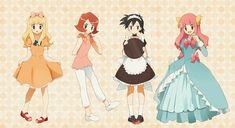 pokemon juliet, satoko, satomi and satoshi