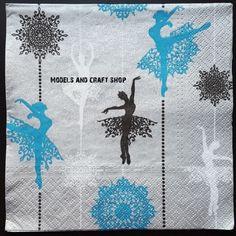 Hobby Shop, Craft Shop, Paper Napkins, Ballerina, Moose Art, Campaign, Models, Medium, Live