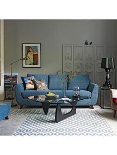 Discover stylish living room design ideas on HOUSE - design, food and travel by House & Garden. From colour to decor, living room pictures to inspire. Living Room Grey, Living Room Decor, Living Rooms, G Plan Sofa, Chandelier In Living Room, Large Sofa, Living Room Pictures, 3 Seater Sofa, Living Room Designs