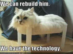 We can rebuild him. We have the technology.
