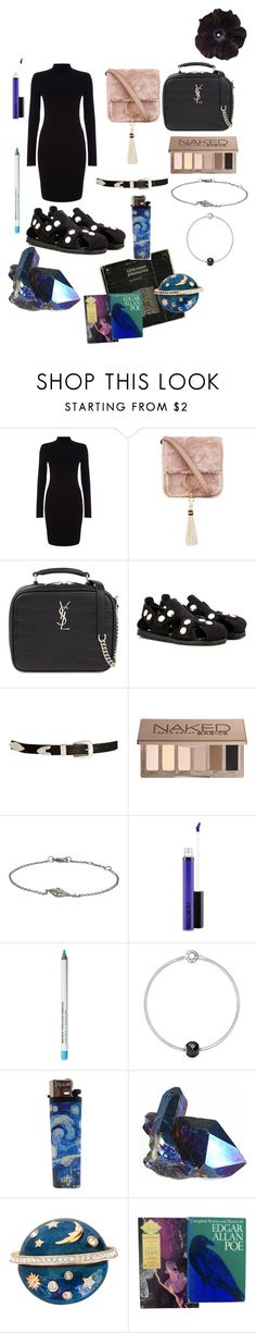 """""""To """"lenore"""""""" by cerenguezel ❤ liked on Polyvore featuring Phase Eight, Brother Vellies, Yves Saint Laurent, Acne Studios, ASOS, Urban Decay, Deborah Pagani, MAC Cosmetics, Obsessive Compulsive Cosmetics and Pandora"""