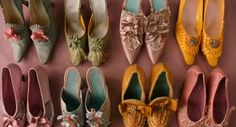 Marie Antoinette shoes! - there is a tutorial out there somewhere on how to make shoes like these.  I have to find that again! - Heidi