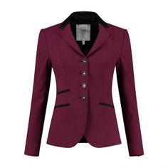 Luxury merino wool Show jacket Show Jackets, Equestrian Outfits, Merino Wool, Swarovski, Burgundy, Blazer, Luxury, Women, Fashion