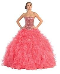 US Fairytailes Ball Gown Formal Prom Strapless Wedding Dress #241