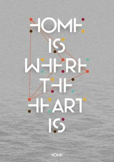 Home is where the heart is ..  Typographic poster