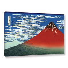 Art Wall Red Fuji by Katsushika Hokusai Painting Print on Gallery Wrapped Canvas | AllModern