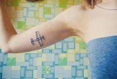 Номер 34 #Lnttoo ✈ vk.com/lnttoo #aeroplane #plane #planetattoo #tattooing #tattoos #tattoo