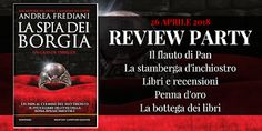 Il flauto di Pan: Review Party: La spia dei Borgia di Andrea Fredian...