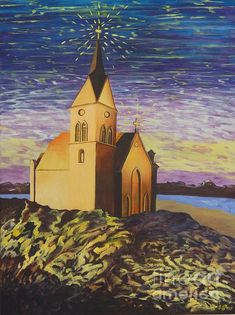 Church on the Rocks. Painting by Caroline Street. Original and prints for sale. Creation Of Earth, Gods Creation, Oil On Canvas, Canvas Prints, Place Of Worship, Bible Art, Christian Art, Prints For Sale, Landscape Art