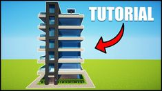 Minecraft: How to Build a Modern Skyscraper/Apartments ( - House Tutorial Minecraft Modern City, Minecraft Barn, Minecraft Skyscraper, Video Minecraft, Minecraft City Buildings, Minecraft Mansion, Minecraft House Tutorials, Easy Minecraft Houses, Minecraft Houses Blueprints