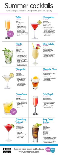 Summer cocktails | Nutracheck Blog Summer Cocktails, Cocktail Recipes, Alcoholic Drinks, Wine, Blog, Glass, Alcoholic Beverages, Cocktails, Drinkware