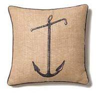 jute anchor pillow