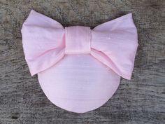 Pastell-Rosa Headpiece aus Dupionseide