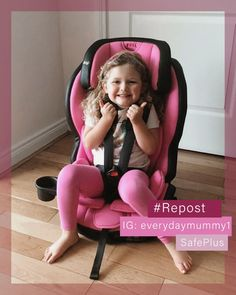 All smiles and a big thumbs up from this little one in her new PINK Safe Plus car seat 💗 We are just loving the colour coordination🤩  Thank you so much to everydaymummy1 for sharing this adorable photo with us!  This car seat is available in 4 colours, now available on our website! Forward Facing Car Seat, Best Car Seats, Travel System, All Smiles, Coordinating Colors, Pretty In Pink, Colours, Website, Big
