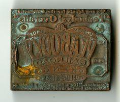 1900's 1910's Peabody Overalls Print Block ~ Rivet Head