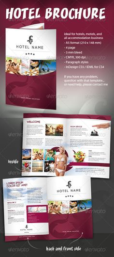 University college brochure template and brochures on for Hotel brochure templates free download