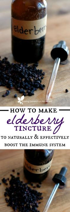 Remedies How To Make Elderberry Tincture ::Learn how to make and use an elderberry tincture to effectively battle viruses and boost the immune system! - Learn how to use an elderberry tincture to effectively battle viruses and boost the immune system! Holistic Remedies, Natural Health Remedies, Herbal Remedies, Holistic Healing, Leaky Gut, Healing Herbs, Medicinal Herbs, Herbal Tinctures, Herbalism