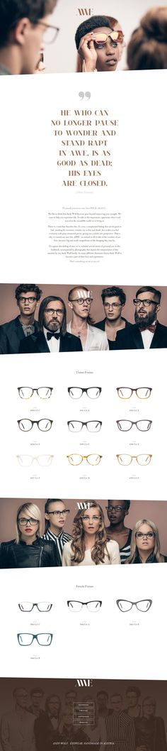 6bf9fb05957d61 Andy Wolf Eyewear posted in Fashion - Showcase of beautiful flat UI website  designs