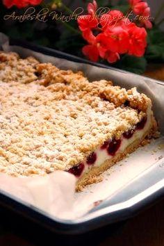 Arabeska : Kruche ciasto z malinami i budyniową pianką Banana Bread, Cooking Recipes, Menu, Favorite Recipes, Sweets, Food, Gastronomia, Diet, Kuchen