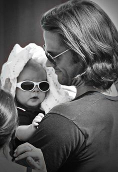 """The Padalecki Family - Jared, Gen, and """"Little T"""" (Thomas)"""