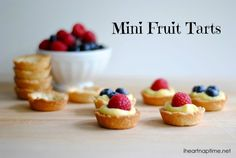 As the weather warms up, I find myself shifting focus from chocolate and caramel desserts to lighter-flavored sweets. I love fresh berries and these mini fruit tarts really let the juicy fresh fruit shine.
