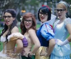 Hipster Princesses    http://chugginmonkeys.com/hipster_disney_princesses