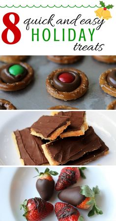 The holidays are quickly approaching, which means it's time for desserts, desserts, and more desserts! Check out these delicious and easy treats that are perfect for any holiday party.