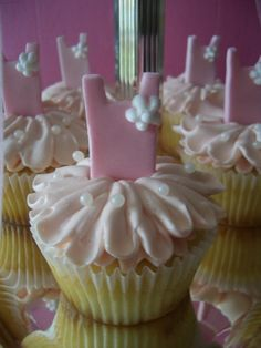 Ballerina Birthday Cupcakes - Find more Ballet Party Ideas at http://www.birthdayinabox.com/party-ideas/guides.asp?bgs=59
