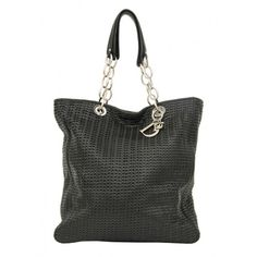 Christian Dior Black Leather Woven Large Tote Handbag and Dustbag RRP £1200