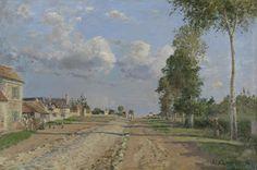 Route de Versailles, Rocquencourt, 1871, Camille Pissarro, Van Gogh Museum, Amsterdam.