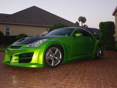 One of my favorite cars in my favorite color.  Modified Nissan 350Z