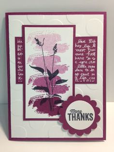 Another Thank You, World of Dreams, Work of Art, Thank You Card, Stampin' Up!, Rubber Stamping, Handmade Cards