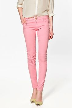 Shop Women's Zara size 2 Skinny at a discounted price at Poshmark. Description: Zara pink premium wash jeans size Worn once. Pink Skinny Jeans, Pink Jeans, Skinny Pants, Skinny Legs, Rosa Jeans, Jeans Zara, Pastel Pants, Satin Trousers, Pink Trousers
