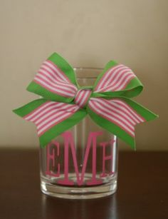 Acrylic Pencil Cup Monogrammed TinyTulip.com We're All About Personalization - Gifts Monogram Embriodery
