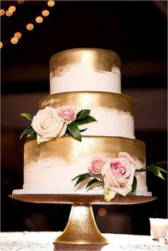 gold wedding cake 12 best photos - wedding cakes  - cuteweddingideas.com