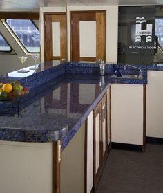 Vetrazzo Cobalt Sky Blue countertop