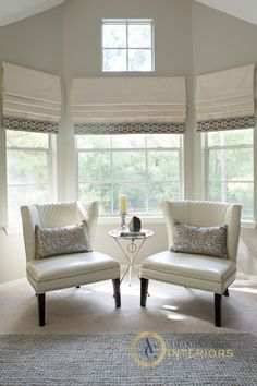 Love these roman shades!