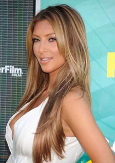 Kim Kardashians hair looks #fab here !