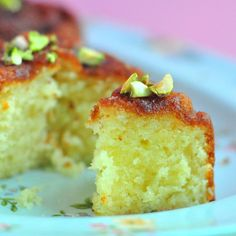 Lime Yogurt Cake with Rosewater and Pistachios