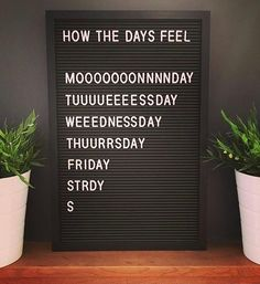 """62 Ideas Humor Thursday Quotes Awesome - """" The Effective Pictures We Offer You About trends home A quality picture can tell you many thin - Thursday Humor, Weekend Humor, Monday Humor, Funny Monday, Funny Weekend, Happy Weekend, Funny Thursday Quotes, Tuesday Wednesday, Felt Letter Board"""