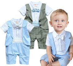 Baby Toddlers Formal Dressy Tuxedo Christening Suit 11798a96cf