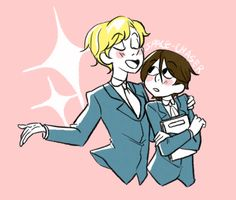 Haruhi is so cute with Tamaki XD She is adorable!