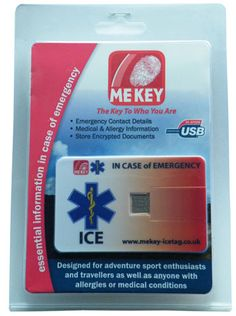 Emergency medical ID couldn't be easier to buy - available in blister pack Medical Information, In Case Of Emergency, Medical Conditions, Card Sizes, Card Wallet, Allergies, Conditioner, Packing, Ice