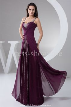 Floor-Length Chiffon Beading Holiday Dress -Special Occasion Dresses US$189.99
