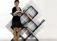 Flat-Packing Knockdown Bookcase for Shelving on the Go : TreeHugger