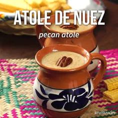 If you love walnuts, we show you how to make Atole de Nueza based on milk and . Gourmet Recipes, Mexican Food Recipes, Dessert Recipes, Cooking Recipes, Cooking Eggs, Kale Recipes, Shrimp Recipes, Champurrado Recipe, Mexican Christmas Food