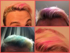 DIY Temporary Hair Dye using Crayola Tropical Washable Markers. For Blonds Only. This is awesome! Washable Hair Color, Temporary Hair Dye, Boy Hairstyles, Crazy Hair, One Color, Hair Beauty, Beauty Stuff, Dyed Hair, Editorial Fashion
